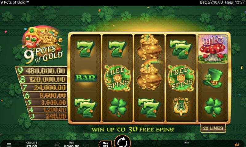 9 Pots Of Gold Slot